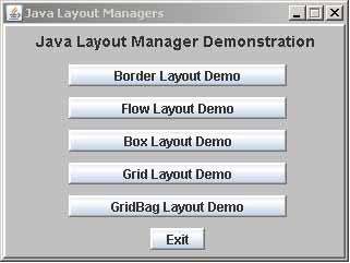 how to make grid layout in java